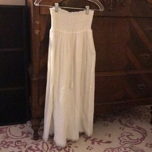 Sz S Margaret O'Leary white cotton gauze skirt